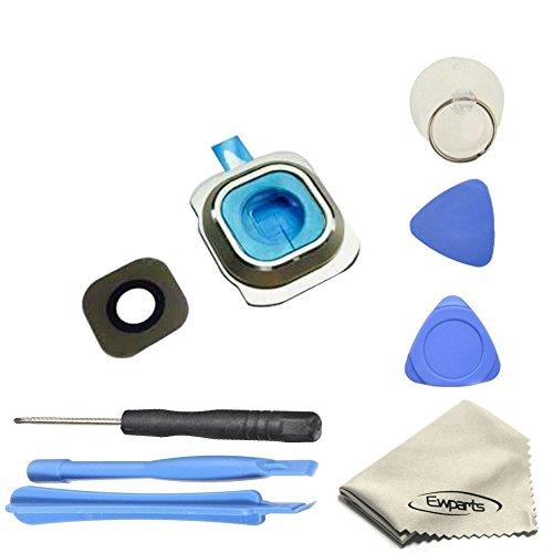 Ewparts für Samsung Galaxy S6 G920A G920T G920S G920F Kamera objektiv Hintere Kamera Glas linse Blenden Ringe + Adhesive + Reparatur-Werkzeug-Kits (Gold)