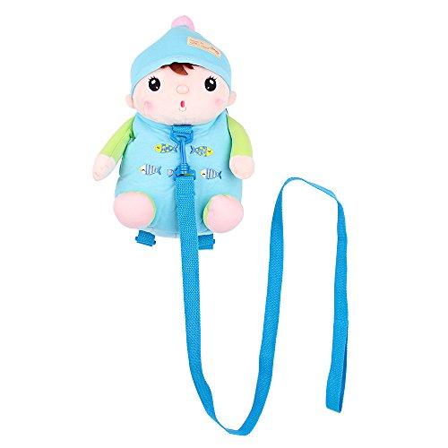 Imagen de arnés de seguridad , belk [ligero de viaje] 2en 1animal de peluche & de sujeción para bolsa con correa desmontable, [anti perdido] bebé niño niña guardería  azul