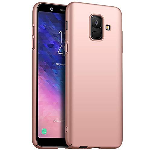 Conie Basic Slim Cover kompatibel mit Samsung Galaxy S9 Plus, Extra dünne Anti Fingerprint Hülle Schutzhülle Rutschfeste Oberfläche (Gold Matt Finish)