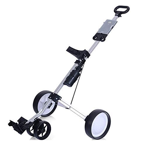 YSYDE EIN-Knopf-Golf-Falt-Golfwagen 4-Rad-Golf-Push-Pull-Wagen Einfach auf jedem Gelände zu schieben