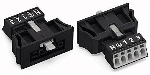 Wago Netz-Steckverbinder WINSTA Mini Serie (Netzsteckverbinder) WINSTA Mini Buchse, gerade Gesamtpol -