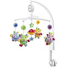 Fehn 093704 Musik Mobile Blobbs - Spieluhr-Mobile mit niedlichen Außerirdischen für Babys von 0-5 Monaten / Zum Aufziehen und Montieren am Kinderbett / Höhe: 65 cm, ø 40 cm