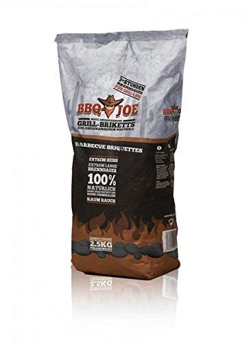BBQ JOE: Best American Hartholz Briketts 4 x 2,5 Kg Vorteilspack, Gesamt 10 Kg