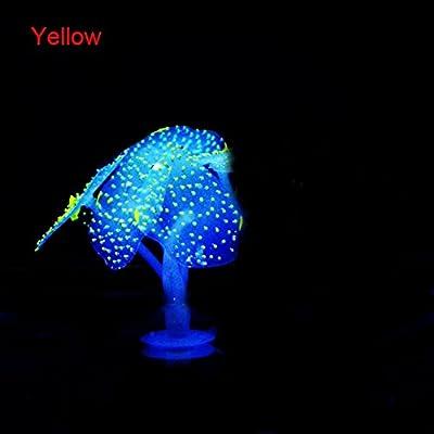 Handfly coloré Emunational décoratifs Corail pour aquarium, aquarium, très doux respectueux de l'environnement en silicone Matériau, peut Changer de couleur sous lumière LED