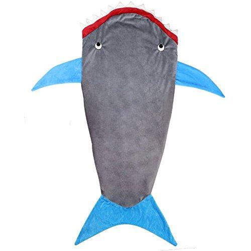 Dressyday Haie Fleecedecke Schwanz Decken Schlafsack Kinder Schlafdecken