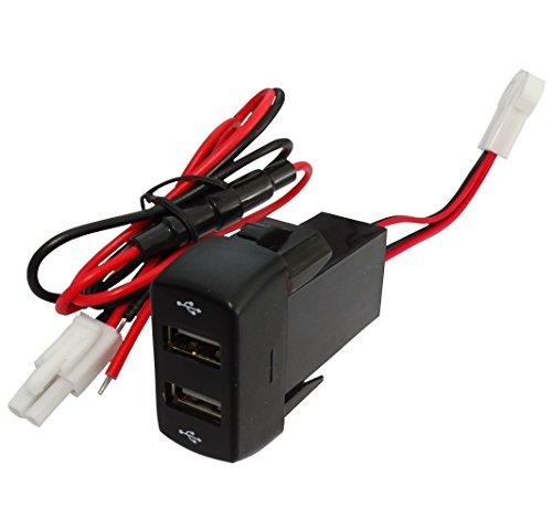 Aerzetix: USB-Buchse Doppelmodul 5V Ladetisch für Armaturenbretter C16995