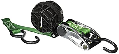 SmartStraps 337 RatchetX Green 14' 1,500 lbs Capacity Tie Down with Retractable Ball of Webbing, (Pack of 2) by SmartStraps