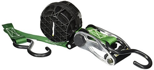 SmartStraps 337 RatchetX Green 14' 1,500 lbs Capacity Tie Down with Retractable Ball of Webbing, (Pack of 2) by SmartStraps -