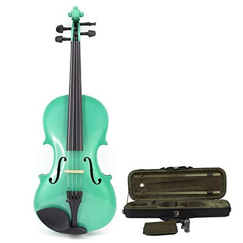 Fanvone Violine Finish Handcrafted Solid Basswood Akustische Violine Mit Hard Case Natural Wood Fiddle Kit Mit Bogen Kolophonium Für Studenten Anfänger 4/4, 3/4,1/2,1/4,1/8,1/16 Violine für Anfänger