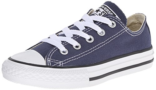 Converse Chuck Taylor All Star Ox, Unisex Baby Sneaker, Blau (Navy Blue), 19 EU (6-9 month Baby UK) (Baby Converse Sneakers)