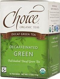 Choice Organic Teas Decaffeinated Green Tea - 16 Bags (Pack of 6)