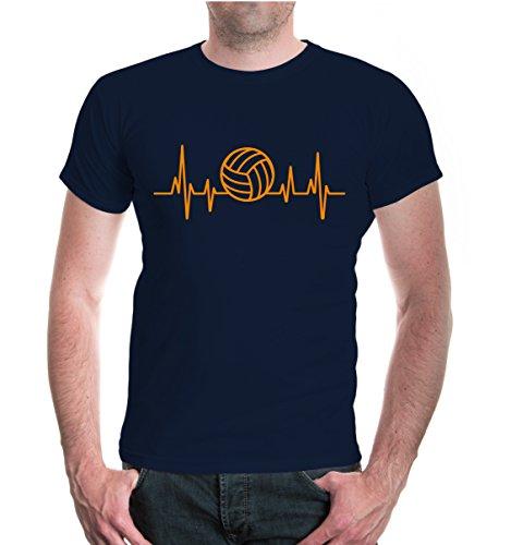 buXsbaum® T-Shirt Frequenz-Volleyball Navy