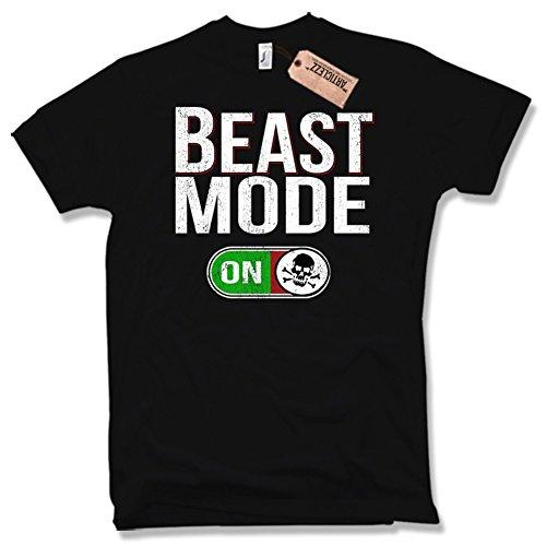 BEAST MODE T-Shirt, Fitness, Skull, verschiedene Farben, Gr. S - XXL Schwarz / Black