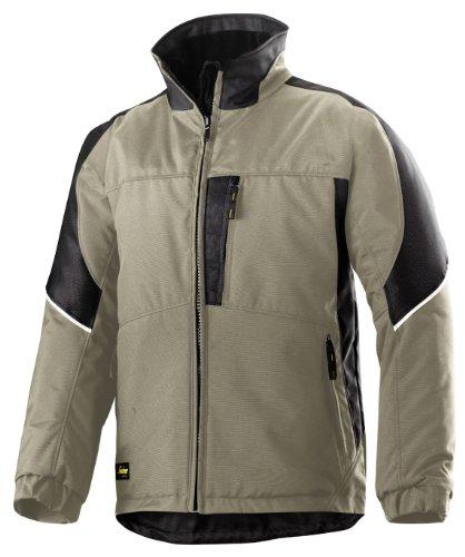 Snickers Power Winter Jacke schwarz, Gr.  XL Regular khaki-schwarz