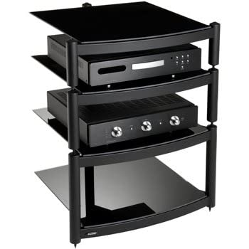 equinox black 4 shelf r s hifi stand electronics. Black Bedroom Furniture Sets. Home Design Ideas