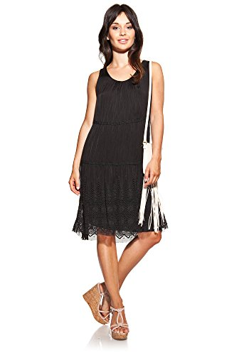 laura-moretti-silk-dress-colour-black-with-u-neck-embroidery-and-plaited-strap
