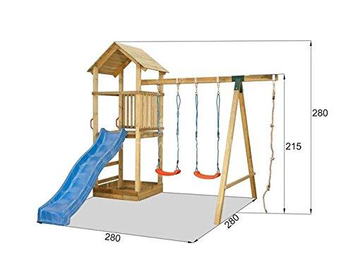 Preisvergleich Produktbild Kinder Spielturm mit Rutsche und Schaukel
