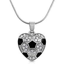 Cuore di cristallo a forma di pallone da calcio, per bambine, adolescenti e donne di glamour Girl Gifts Collection