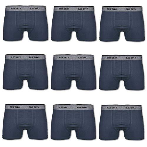 Modeoase24 10er Pack Boxershorts Herren Retroshorts für Männer Unterhosen Set Boxer Short Slips Men (XL, Dunkelblau)