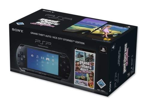 PlayStation Portable - PSP Konsole Black (Grand Theft Auto: Vice City Stories Bundle) - Vice Psp Auto City Grand Theft