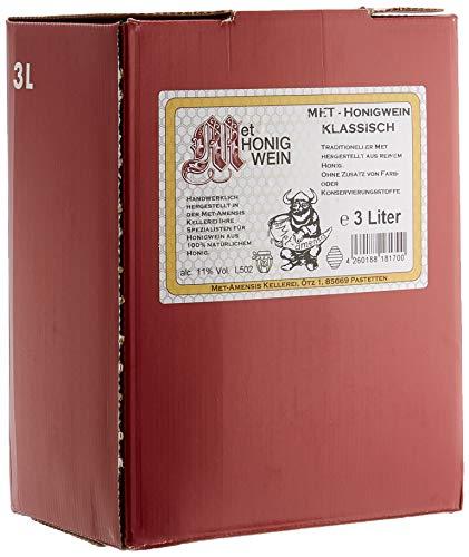 MET Amensis Original MET - Honigwein klassisch lieblich, traditionell, Bag-in-Box Weinkarton (1 x 3 l) Integration Box