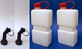 2x Fuelfriend® Plus Clear 1,5 Liter Mini-benzinkanister + Füllrohr Verschließbar 0