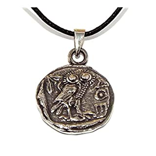 Olympians Athena/Minerva Coin Pendant (Pewter Greek God Necklace)