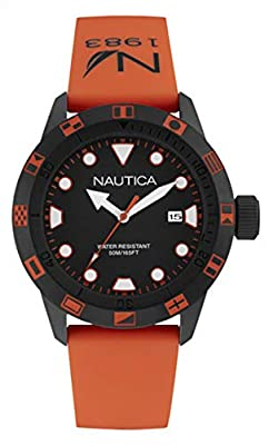 Nautica Reloj Analógico para Hombre de Cuarzo con Correa en Silicona NAI10077G de Nautica