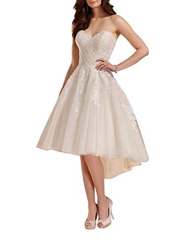 Brautkleider Hochzeitskleider Kurz Hinten Lang Im Vergleich Feb