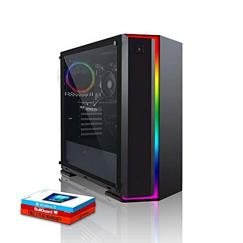 Fierce Alpha RGB Gaming PC - Veloce 4.0GHz Quad-Core AMD Ryzen 3 2300X, 240GB Disco a Stato Solido, 1TB Disco Rigido, 16GB 3000MHz, NVIDIA GeForce GT 1030 2GB, Windows 10 installato 931449
