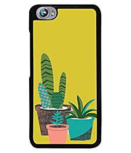 PrintVisa Designer Back Case Cover for Micromax Canvas Fire 4 A107 (impressive colours plants in goldenrod colour)