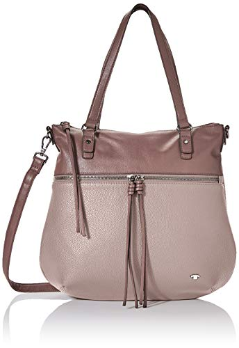 TOM TAILOR Shopper Damen, Tanya, Pink (Old Rosé), 33.5x30x10 cm, TOM TAILOR Schultertasche, Handtaschen Damen