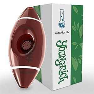 YoungRich Rugbyball Glaspfeife Handgefertigt mit 7 Kickloch Dickes Kleines...