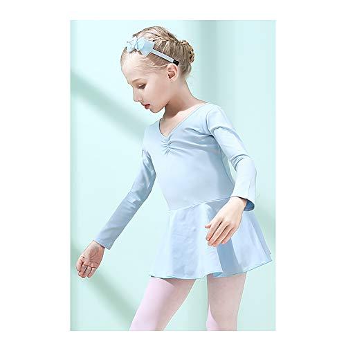 Hellblau für Kinder Tanzkleidung Mädchen Tanzkleidung Übungskleidung Ballett Rock Grading Kleidung Anzug Höhe 120 cm
