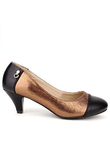 Cendriyon, Escarpin Bronze paillettes CINK MODE Chaussures Femme Bronze