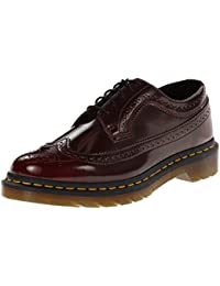 Dr. Martens 3989 Cambridge Rub Off CHERRY Damen Brogue Schnürhalbschuhe