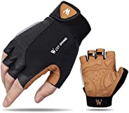 Cycling Gloves for Men Women Anti Slip Shock-Absorbing Road MTB Gloves with Foam Padding, Breathable & Str