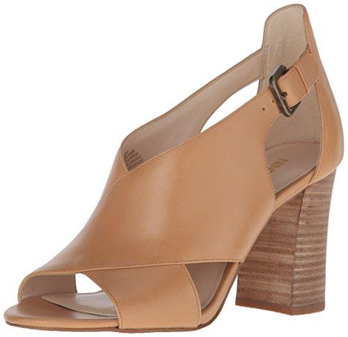 Nine West Womens Boland Leather Dress Sandal Natur