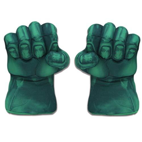 GUANG JUN EIN Paar grüne Handschuhe Smash Hands Faust Boxhandschuhe Handschellen Plüsch-Spielzeug