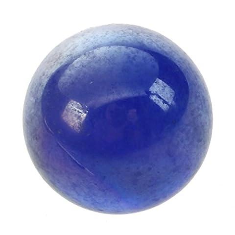SODIAL(R) 10pcs Bille Perle Ronde Verre Marbre jeux jouet Enfant Vase Aquarium Poisson decoration bleu fonce