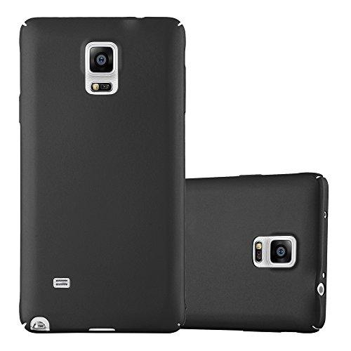 Cadorabo Hülle für Samsung Galaxy Note 4 - Hülle in Metall SCHWARZ - Hardcase Handyhülle im Matt Metal Design - Schutzhülle Bumper Back Case Cover