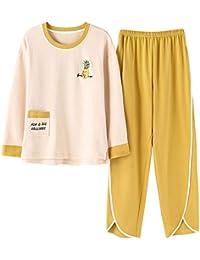 cb455abff4 Meaeo Los Amantes del Pijama Establece Algodón Hombres Ropa De Dormir De  Dibujos Animados Hogar Paño Parejas Pijamas Cuello Redondo…