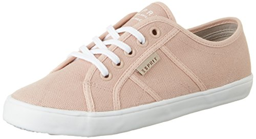 Esprit Italia Lace Up, Sneakers Basses Femme Rose (Dark Old Pink 675)