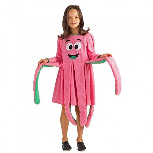 pink Qualle Octopus Fasching Tiere Meerestiere (116) (Quallen-kostüm)