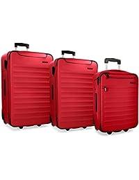 Detroit Set de bagages 75 cm 193 liters Rouge (Rojo)