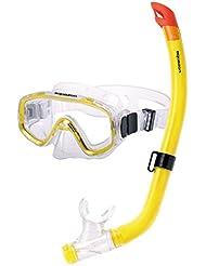 Aquazon–Juego de esnórquel para niños Fun, gafas y tubo de buceo, snorkel para niños de 4–8años amarillo