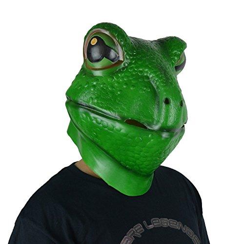 x Frosch Maske Party Maske Halloween Maske Erwachsene Größe Grün (Scary Halloween-kostüme Für Pferde)