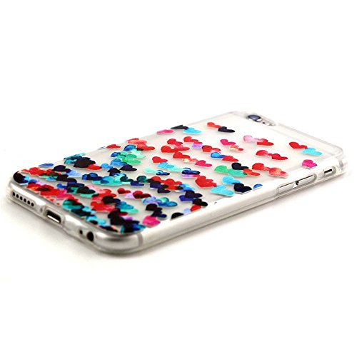 iPhone 5s 5 Hülle,iPhone 5s 5 Case [Scratch-Resistant] , ISAKEN iPhone 5s 5 Ultra Slim Perfect Fit Einzigartige Ozean Meer Design Niedliche Cartoon Malerei TPU Clear Transparent Protective back Hülle  Colorful Love