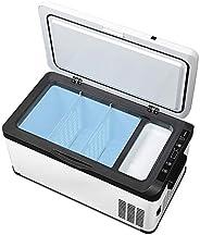 Mini Freezer for Car and Home,Refrigerator Equipped with Compressor to Ensure True Freezing,12V/24V DC and 220