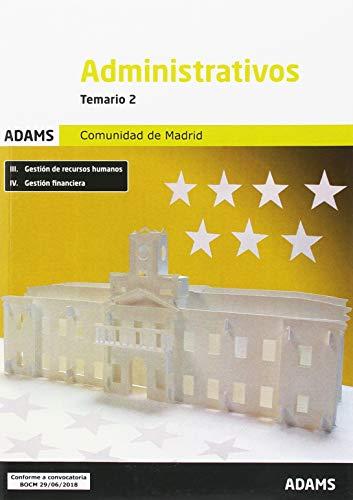 Temario 2 Administrativos Comunidad de Madrid por Obra colectiva